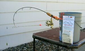2 Ice fishing pole automatic hook setters. Fishing tackle for ice fishing rods