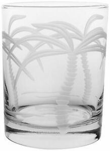 Rolf Glass 14 oz. Palm Tree Double Old Fashioned Glass One Size $9.99