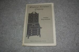 Old Winthrop Furniture Company Catalog Boston MA Antique Reproductions $9.95
