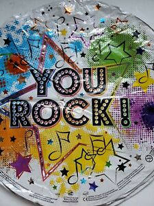 YOU ROCK ! 18' ROUND MYLAR FOIL BALLOONS-4 PC
