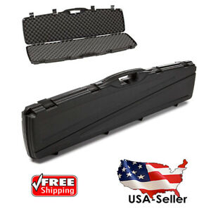 Plano DOUBLE Two Gun Hard Rifle Case Shotgun Scope Hard Carry Case Padded Locker