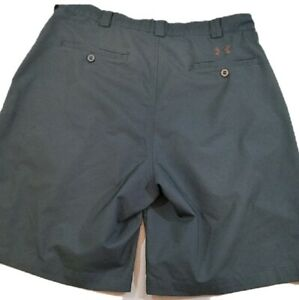 Under Armour Flat Front Golf Shorts W36 Black Polyester