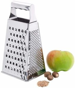 JUDGE St'Steel Cheese/Food Box Grater, 4 Way - Zester/Slicer/Small/Large Blades