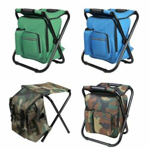Portable Folding Camping Chair Stool Backpack Travel Hiking Bag Beach Outdoor