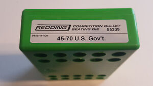55209 REDDING COMPETITION SEATING DIE - 45-70 US GOV'T - BRAND NEW - FREE SHIP