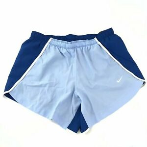 Nike Big Girls Large Dry Running Shorts Blue Dry Tempo Color Block Standard Fit