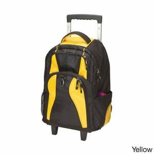 Goodhope School Elevated Rolling 17-inch Laptop  Tablet Yellow
