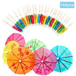 Disposable Cocktail Toothpick 144pcs Bamboo Food Drink Fruit Fork Party Supplies