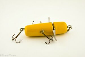Vintage Decker Rotary Head Solid Yellow 3T Antique Fishing Lure Slick