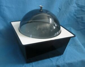 Vintage 60's Smoked Ice Bucket Dome Space Age Food Server MCM Mod Sixties 1960's