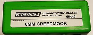 55443 REDDING COMPETITION SEATING DIE - 6MM CREEDMOOR - NEW - FREE SHIP