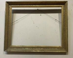 Antique Silver Gilt American Sampler Or Watercolor Frame Mid 19Th Century $225.00