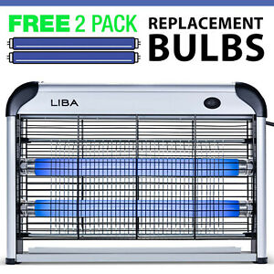 LiBa Indoor Bug Zapper Electric Insect, Mosquito, Fly Killer 2 Extra Bulbs