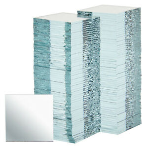 120 Piece Square Mirrors 1x1 Inch Bulk Glass Mosaic Tiles for Arts amp; Crafts