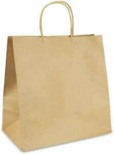 Brown Kraft Paper Bag Shopping Gift Bags with Handles 4 Size Choose