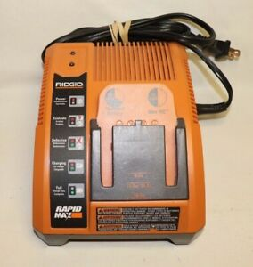Ridgid Rapid Max Battery Charger 140276003 9.6V 12V 14.4V & 18V WORKS