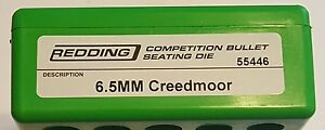 55446 REDDING COMPETITION SEATING DIE - 6.5 CREEDMOOR - BRAND NEW - FREE SHIP