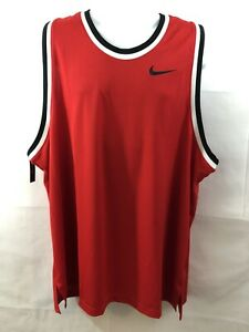 Men's Nike Dry-Fit Size 3XL Red Basketball Shirt Jersey AQ5591-657 NWT