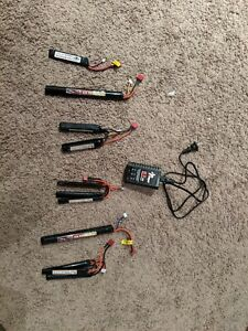 LiPo battery bundle - 4 LiPo Batteries and Charger