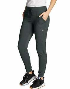 Champion Joggers Women Jersey Sweatpants Relaxed fit Pockets Cotton 29 in inseam
