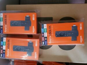 Amazon Fire TV Stick 4K Streaming Media Player LOT(3) Unopened New In Box