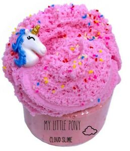 8oz Pink Cloud Slime Unicorn Charm and FIMO Sprinkles FREE SHIPPING
