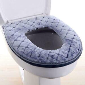 Bathroom Washable Soft Closestool Mat Seat Warmer Toilet Cover Pad Cushion Z9F0