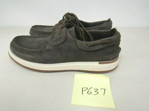 Sperry Mens Caspian Leather Boat Shoes Brown Sz. 8.5M P637 $49.99