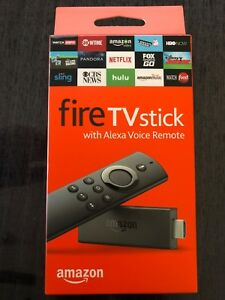 Amazon Fire TV Stick with Alexa Voice Remote with TV Control Buttons New Sealed
