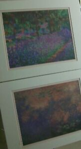 Monet Art Litho Prints Two Willows & Artist's Garden Frame Size 11x14 Portal Pub