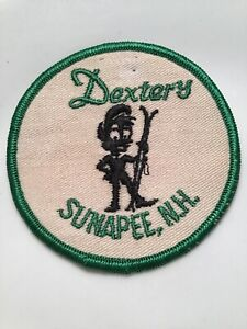 Vintage Dexter's Sunapee Embroidered Cloth Ski Patch New Hampshire Skiing.