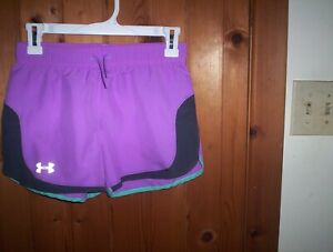 under armour girls Large (would fit womens XS) shorts athletic heat gear EUC 99