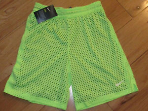 Nike Dry Dri-Fit double shorts NWT girls' M ghost green neon gray