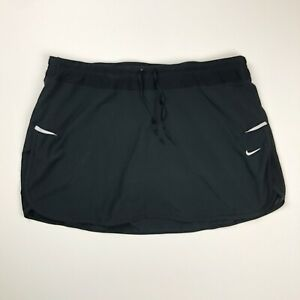 Nike Women's Dri Fit Black Racer Running Athletic Skort Skirt Shorts Size M