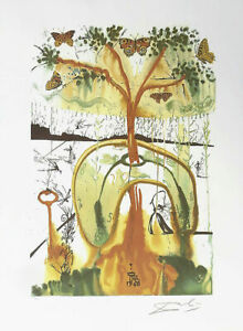 SALVADOR DALI Mad Tea Party Alice Wonderland Litho Print F Signed $54.95