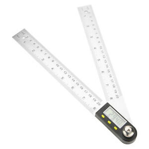 0 200mm Stainless Steel Electronic Goniometer Digital Protractor Ruler $30.08