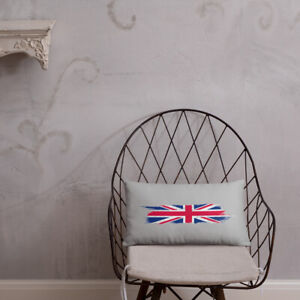 Throw Pillow Hand Painted Art Design of the UK Flag United Kingdom