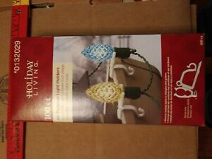 Holiday Living 100 Count All-Purpose Light Holders, Clips for Christmas Lights