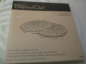 PAMPERED CHEF MICROWAVE CHIP MAKER SET OF 2 #1241