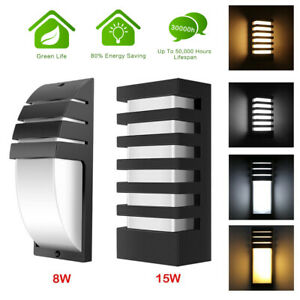Modern LED Wall Light Waterproof Exterior Outdoor Porch Sconce Lamp Fixture 15W
