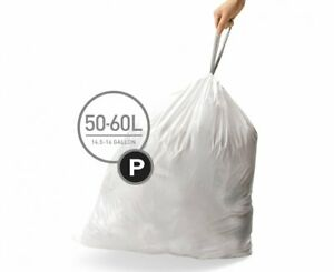 All Code's Custom Fit Liners Tall Kitchen Drawstring Trash Bags With Double Seam