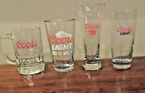 VINTAGE Bar Beer Glasses COORS Pilsners, Goblets, Steins (See Selections)