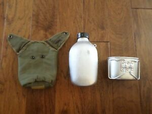 French Military Oversize Airborne Style Canteen With Cup amp; Cover 48 ounce $17.98