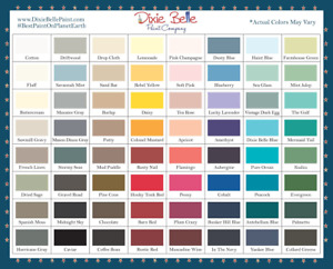 DIXIE BELLE CHALK MINERAL PAINT-69 COLORS-8,16 & 32oz.-FREE SHIP ORDERS OVER $25