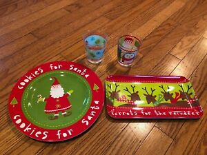 Target Holiday Melamine Cookies for Santa Carrots Reindeer Cups Christmas Plates