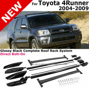 Black Roof Rail Rack Cross Bar Luggage Carrier Complete For 04-09 Toyota 4Runner