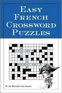 Easy French Crossword Puzzles Language French English and French $5.06