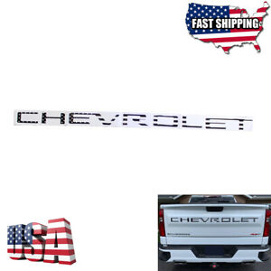 2019 2020 Silverado 1500 2500 3500 Black US Flag CHEVROLET Tailgate Insert Decal