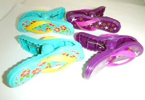 NEW Lot Of 4 Flip Flop Beach Towel Holders Clips 4.5