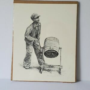 Don Greytak Boy Churning Butter Lithograph Print Limited Ed Signed 182500